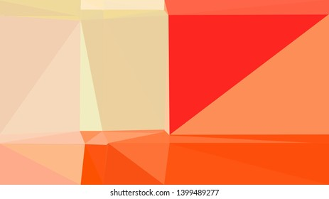 geometric triangles style in skin, orange red and crimson color. abstract triangles composition. for poster, cards, wallpaper or texture.