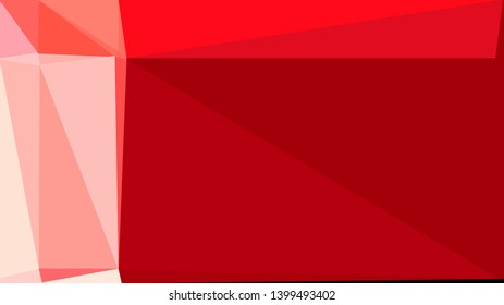 geometric triangles style in strong red, light pink and crimson color. abstract triangles composition. for poster, cards, wallpaper or texture.