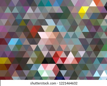 Geometric triangular polygon modern abstract in shades of grey with contrasting accent colours
