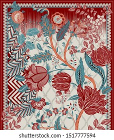 Geometrical Patterns Traditional Designs Illustration For Textile Branding
