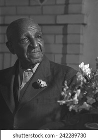 George Washington Carver (1864-1943) in 1943. He was an agricultural scientist when most people made their living as farmers.