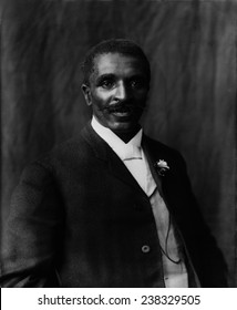 George Washington Carver (1864-1943), African American botanist, teacher and former slave, Tuskegee Institute, Tuskegee, Alabama, photograph by Frances Benjamin Johnston, 1906.
