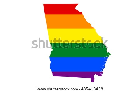 Georgia Gay Pride State Stock Illustration Royalty Free Stock