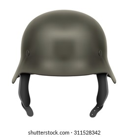 German Army helmet. Illustration isolated on a white background