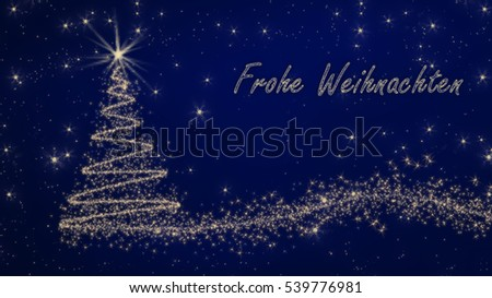 german christmas card frohe weihnachten und stock. Black Bedroom Furniture Sets. Home Design Ideas
