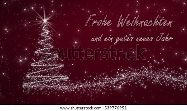 Bilder Frohe Weihnachten Und Ein Gutes Neues Jahr.German Christmas Card Frohe Weihnachten Und Stock Illustration 539776951