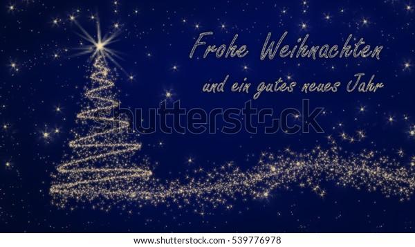 Frohe Weihnachten Und Happy New Year.German Christmas Card Frohe Weihnachten Und Stock Illustration 539776978