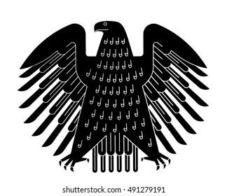 The german eagle (Bundesadler), the logo of the German Bundestag