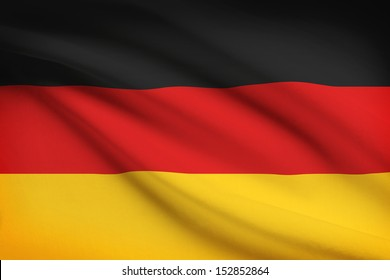 German flag blowing in the wind. Part of a series.