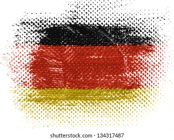 German flag on dotted surface