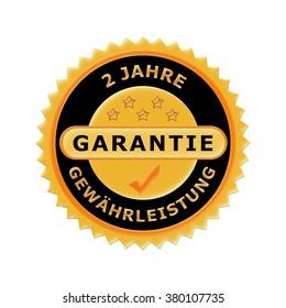 German icon 2 years warranty