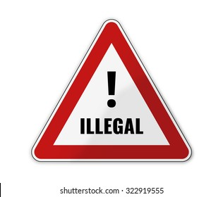 german language for illegally