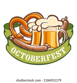 German octoberfest icon. Cartoon of german octoberfest icon for web design isolated on white background