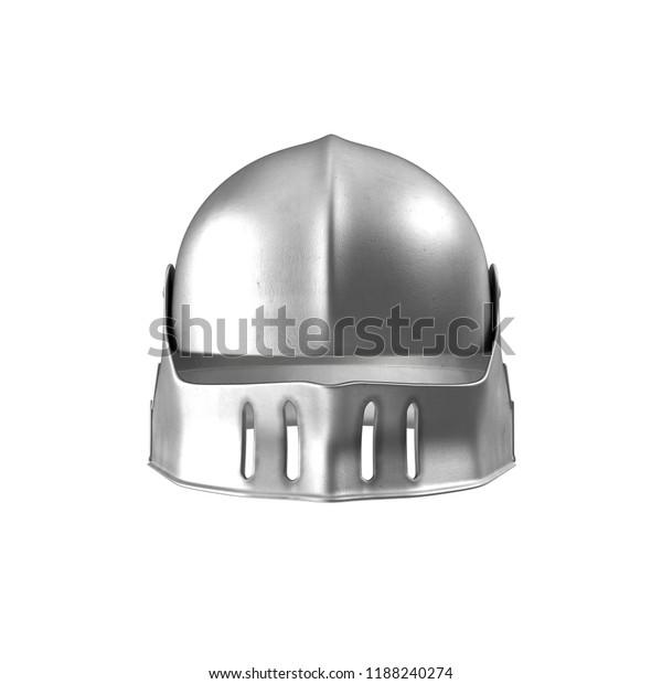German Sallet Medievaval Helmet 3d Illustration Stock