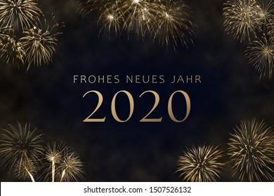 Deutsche Silvester Grußkarte - Frohes Neues Jahr 2020 - Frohes Neues Jahr 2020