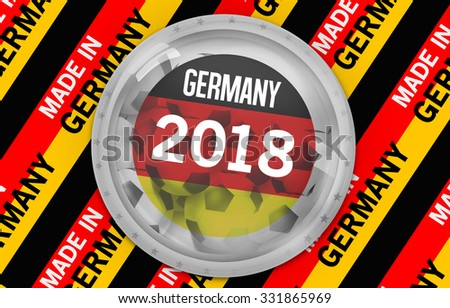 Royalty Free Stock Illustration Of German Soccer Football 2018 Flag