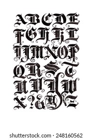 German text, handwork