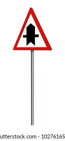German traffic sign: main road, isolated on white. 3d rendering