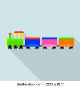 German train toy icon. Flat illustration of german train toy icon for web design
