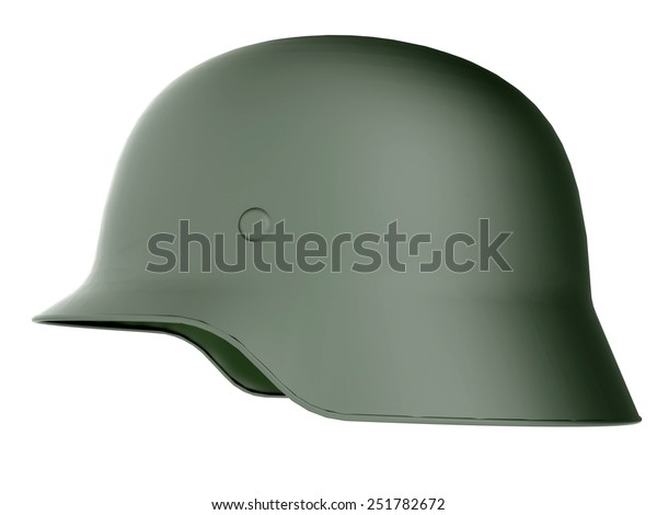 German World War Military Helmet 3d Stock Illustration 251782672