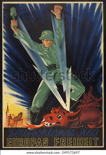 German Military Propaganda Poster Deutchlands Sieg