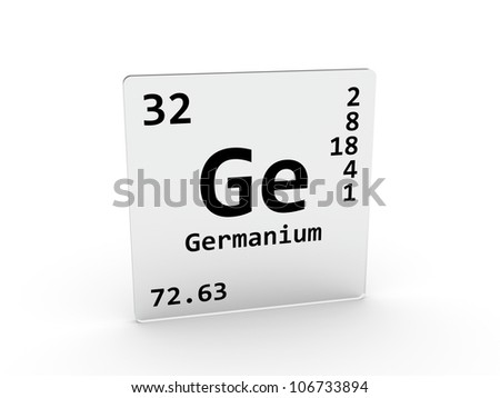 Germanium Symbol Ge Element Periodic Table Stock Illustration