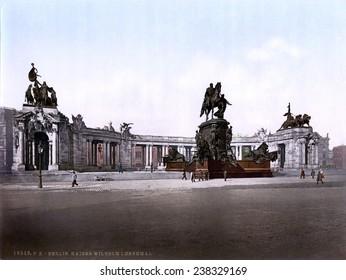 Germany, Emperor William I monument, Berlin, photochrom, ca 1900.