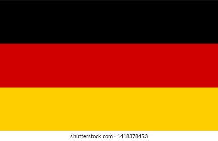 Germany flag isolated on white background
