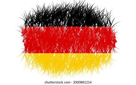 Germany Flag Made Art for Natio
