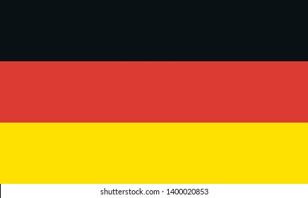 Germany flag, official colors and proportion correctly. National Germany flag.