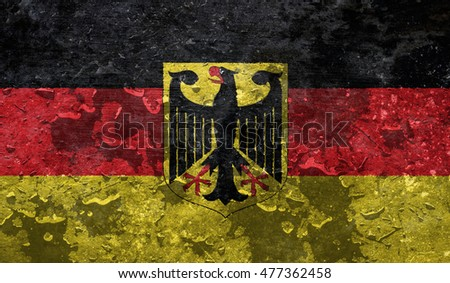 Germany / flag of Germany with raindrops
