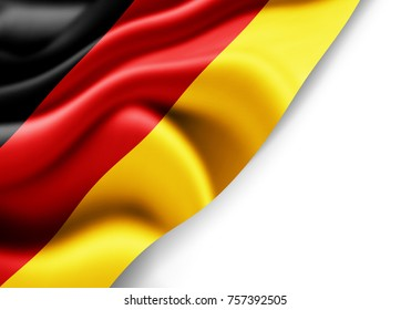 Germany flag of silk with copyspace for your text or images and white background -3D illustration