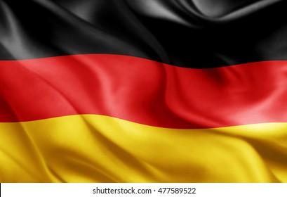 Germany flag of silk-3D illustration
