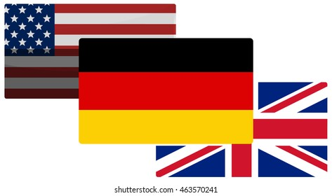 germany Great Britain and america background