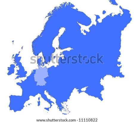 germany location europe map mercator projection stock illustration