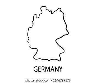 Germany Map - Hand Drawn Illustration