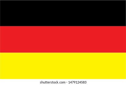 Germany national flag Official state symbol of country.