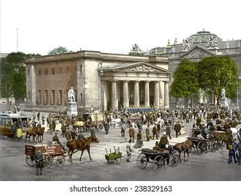 Germany, The 'New Guard' and street scene, Berlin, photochrom, ca early 1900s.