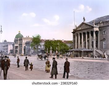 Germany, Opera, Berlin, photochrom, ca early 1900s.