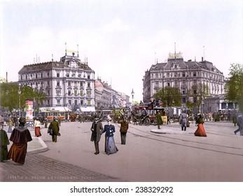 Germany, Potsdam Square, Berlin, photochrom, circa 1900.