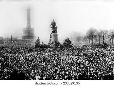 Germany, protest in Berlin, ca 1923.
