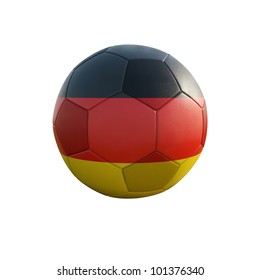 germany soccer ball isolated on white