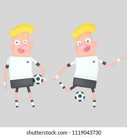 Germany soccer player. 3d illustration
