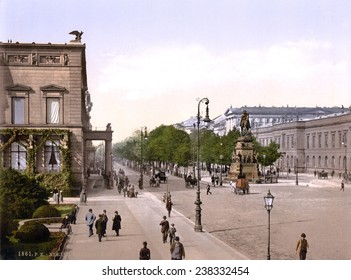 Germany, Unter den Linden, Berlin, photochrom, ca early 1900s.