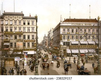 Germany, The Victoria Hotel, Unter den Linden, Berlin, photochrom, ca early 1900s.
