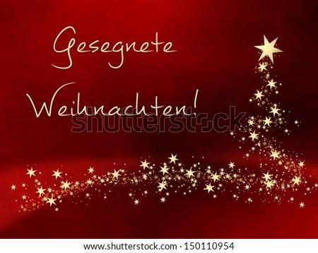 Gesegnete Weihnachten Merry Christmas German Image Stockillustration ...