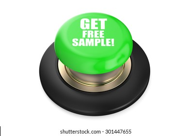 Get Free Sample green button isolated on white background
