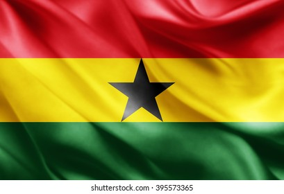 Ghana flag of silk