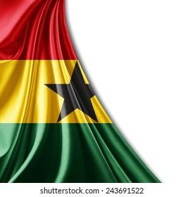 Ghana flag and white background