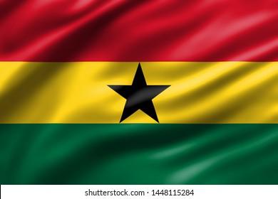 Ghana national waving flag design